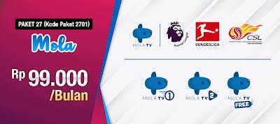 Harga Promo Paket Mola TV Nex Parabola Liga Inggris