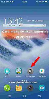 Cara mengaktifkan hotspot pribadi tethering VIVO V9