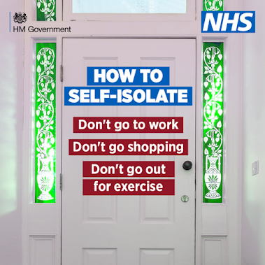 How to self-isolate UK Government advice. Don't go out.