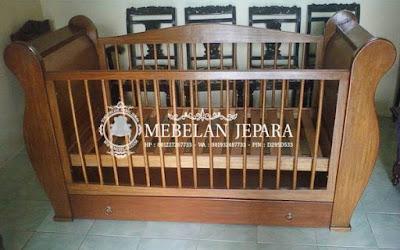 Box Ranjang Bayi Minimalis Jati Jepara