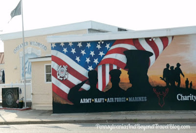 We Will Never Forget Military Heroes Street Art in North Wildwood, New Jersey