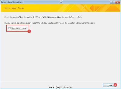 Cara Export Database Access ke Excel