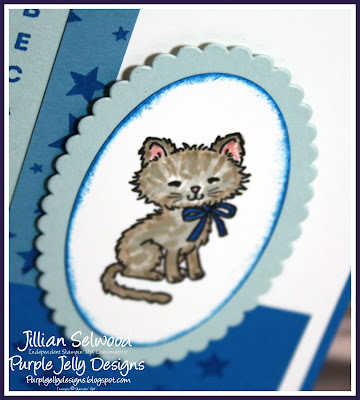 Pretty Kitty Stamp Set, Pacific Point, Layering Oval Framelits