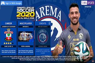 DLS 2020 Mod Full Transfer Skuad Arema FC 2020 2021