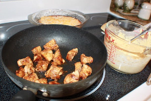 sauteed chicken for buffalo chicken pot pie