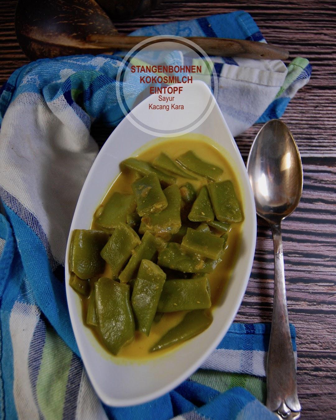 Rezept vegan asiatisch. Stangenbohnen Kokosmilch Eintopf