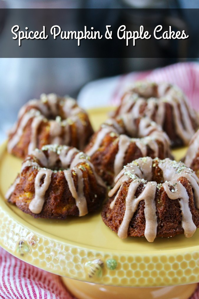 Spiced Pumpkin and Apple Mini Bundt Cakes for Tea