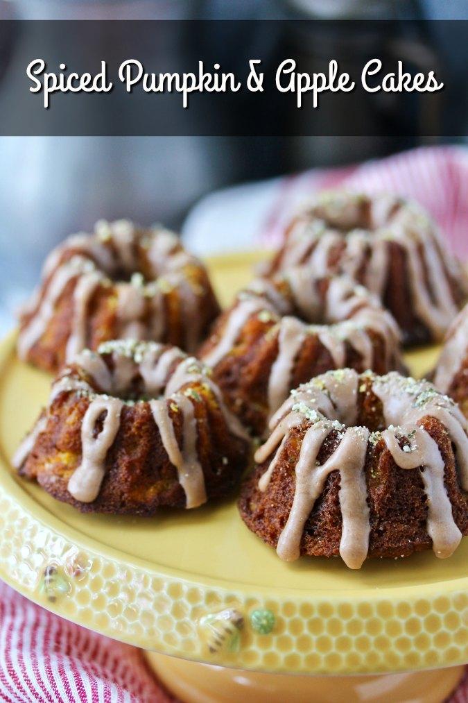 Spiced Pumpkin and Apple Mini Bundt Cakes for Tea