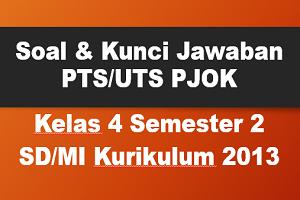 Soal dan Kunci Jawaban PTS/UTS PJOK Kelas 4 Semester 2 SD/MI Kurikulum 2013