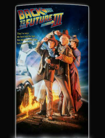 Poster of Back to the Future 3 (1990) BRRip 480p Dual Audio 300Mb