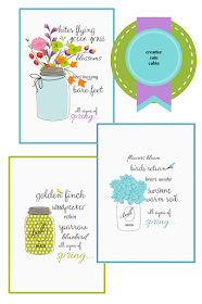 Set of free spring printables