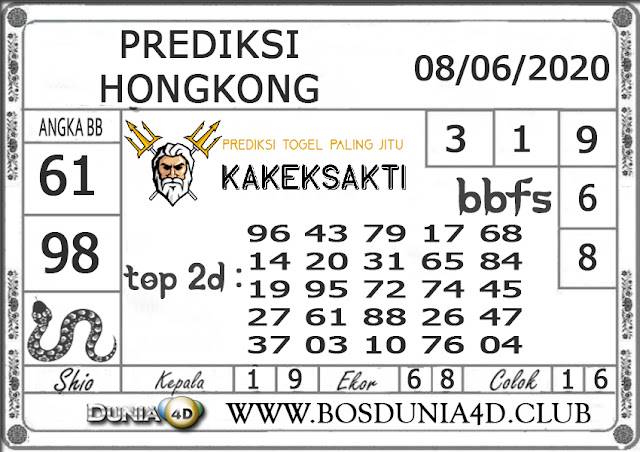 Prediksi Togel HONGKONG DUNIA4D 08 SEPTEMBER 2020