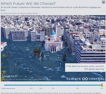 Κλιματική αλλαγή: Έτσι θα είναι ο Πειραιάς και η Θεσσαλονίκη σε λίγα χρόνια