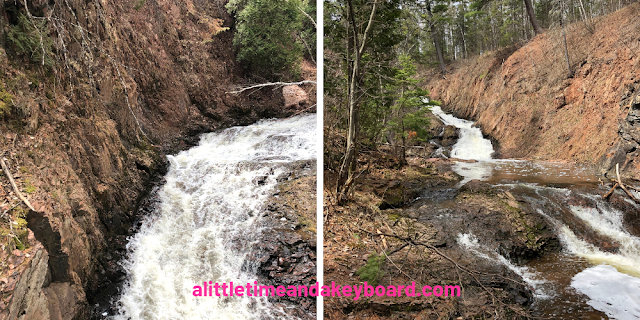 Several of the incredible waterfall vantage points at Congdon Park in Duluth, Minnesota
