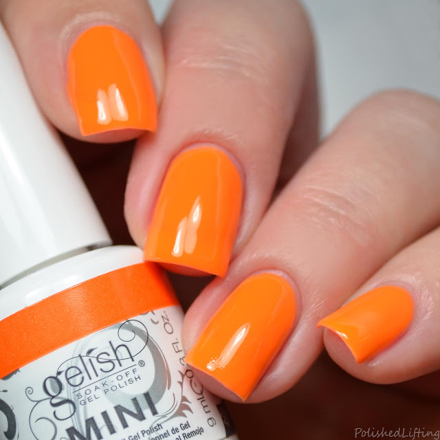 neon tangerine gel polish
