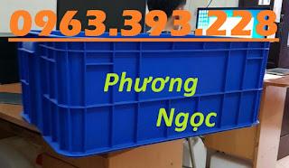 Thùng nhựa HS017, sóng nhựa bít HS017, thùng nhựa đặc có nắp,  Cao%2B25