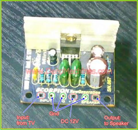 Kit Pengganti Audio Amp TV Boomer Mini 100W Scorpion New Generation (SN.067)