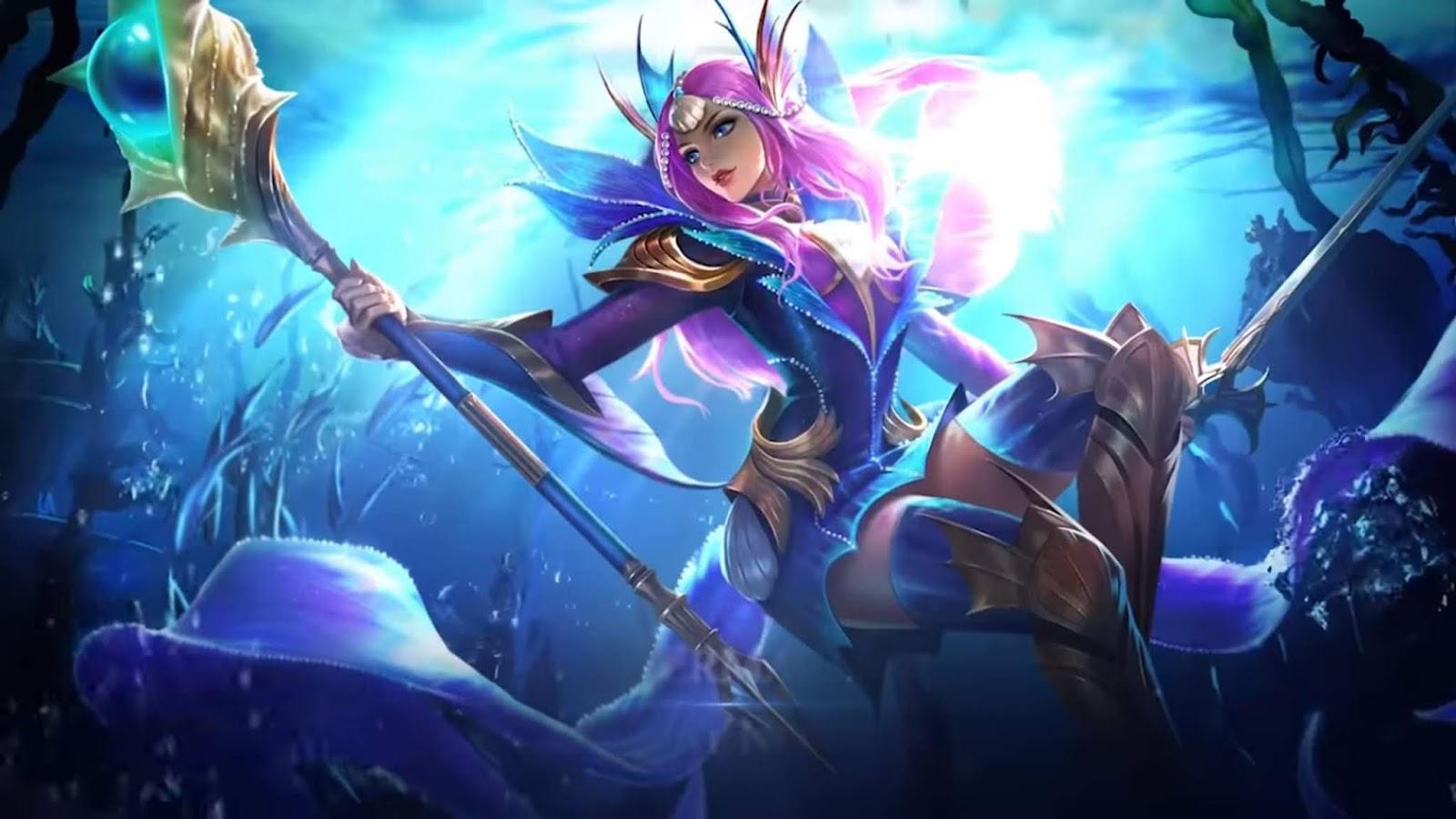 Wallpaper Odette Mermaid Princess Skin Mobile Legends HD for PC