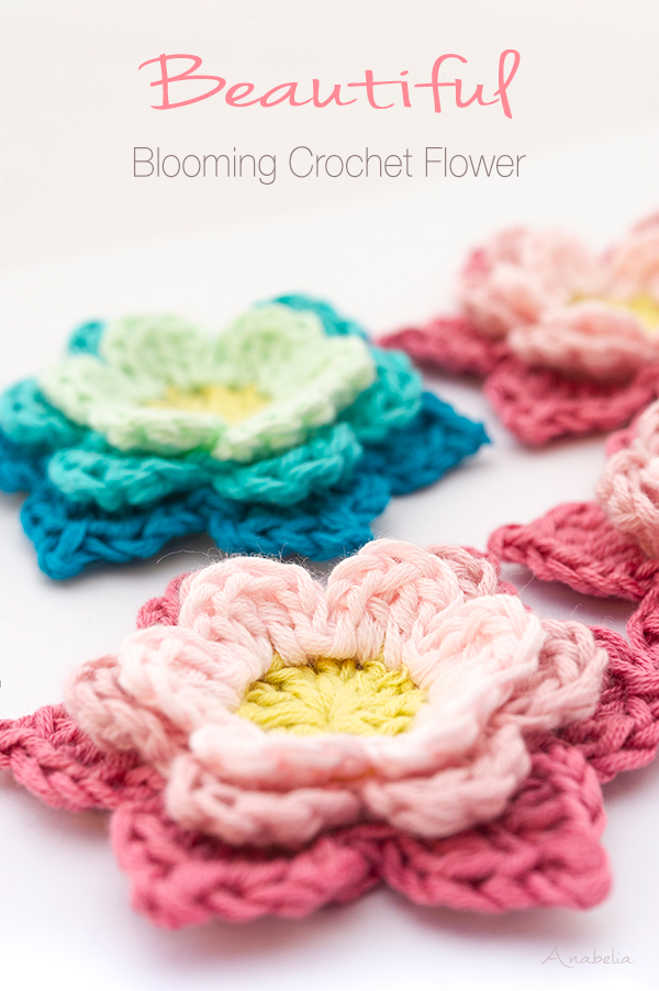 Blooming Flower from Annie Design Crochet design, made by Anabelia Craft Design