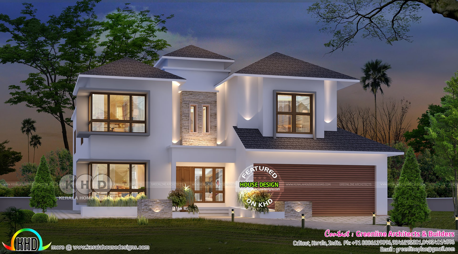 Usa Home Design From Kerala Kerala Home Design And Floor Plans
