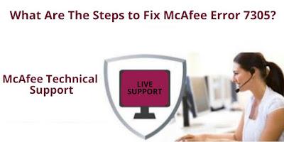 McAfee Error Code 7305
