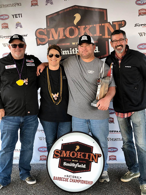 Buckshot BBQ won Reserve Grand Champion at the 2019 Smokin' with Smithfield National Barbecue Championship