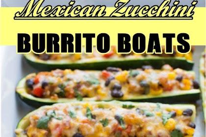 Mexican #Zucchini #Burrito #Boats