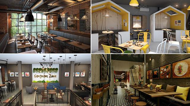 Thiết kế nhà hàng Hàn Quốc theo không gian mở