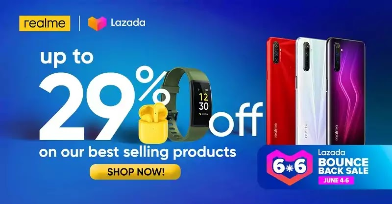 Realme Participates at Lazada 6.6 Bounce Back Sale