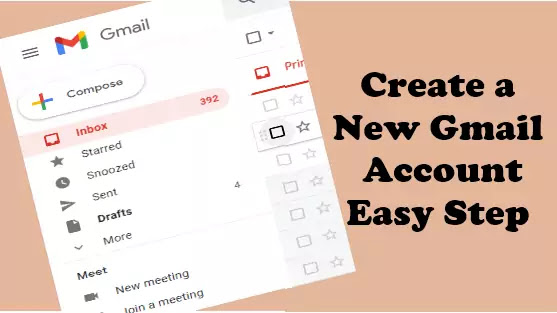 open new account in gmail