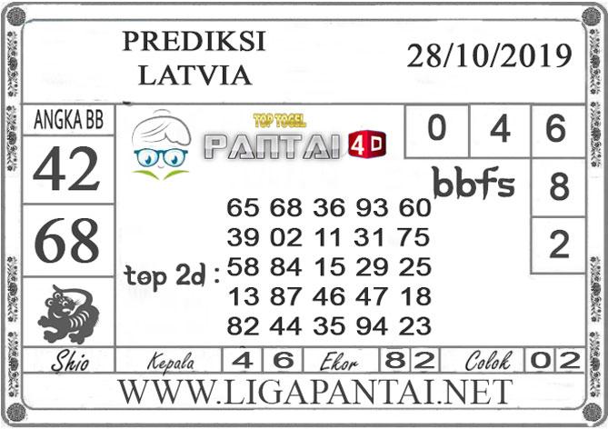 """PREDIKSI TOGEL """"LATVIA"""" PANTAI4D 28 OKTOBER 2019"""