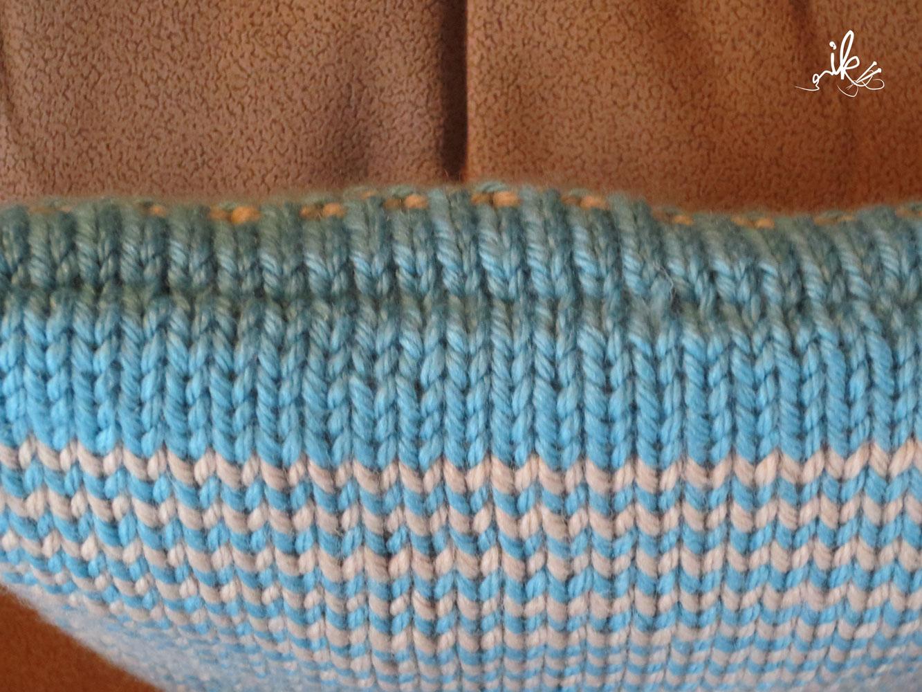 Funky Stricken Kissen Muster Gift - Decke Stricken Muster ...
