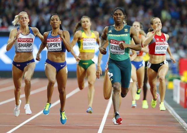 Caster Semenya no Campeonato Mundial de atletismo em 2017