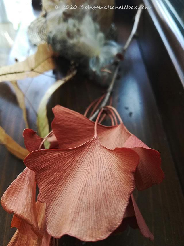 Gingko leaves, rust color