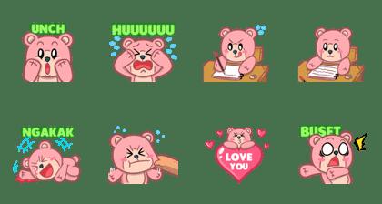 Pinky Bear yang Lucu dan Menggemaskan