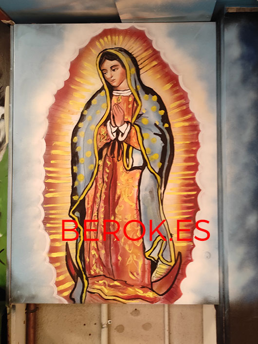 Graffiti Virgen Guadalupe