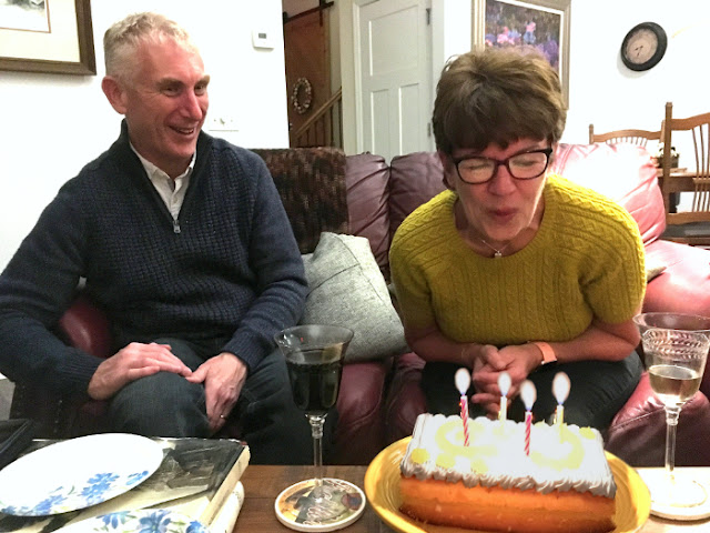 Andy and Linda from Northern Ireland celebrate her birthday at St Francis Cottage.