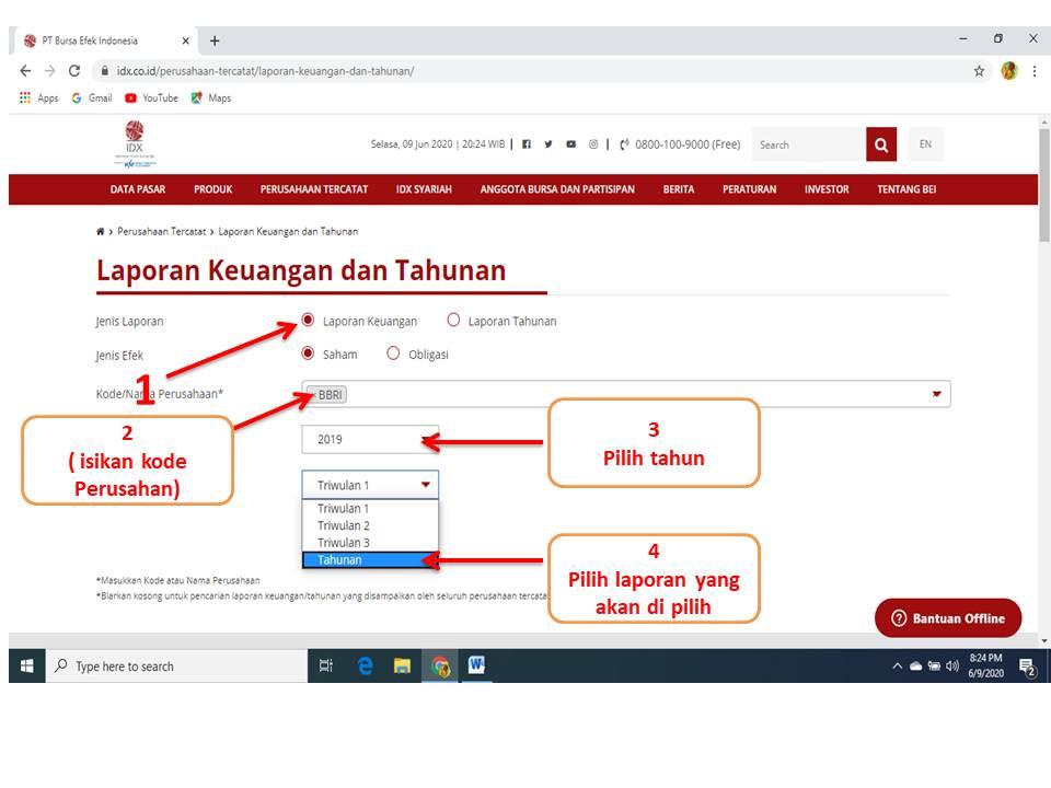 Cara Mendownload Laporan Keuangan Perusahaan Di Bei Mysuku