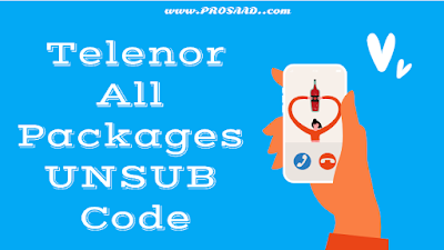 Telenor All Packages Unsubscribe Code