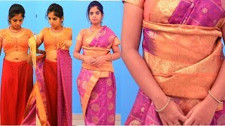 How To Wear Saree | Sari Easily, Quickly and Perfectly | Fast & Easy Saree Wearing tutorial