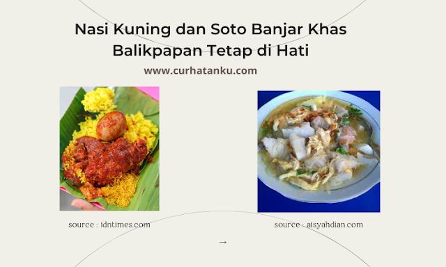 Nasi Kuning dan Soto Banjar