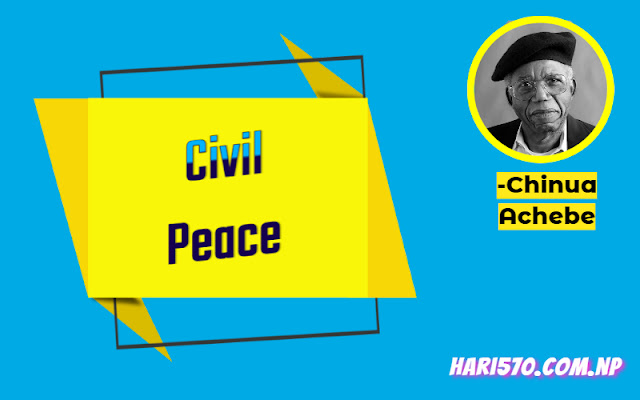Civil Peace by Chinua Achebe Exercise
