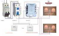 Electrical diagrams: contactor housing