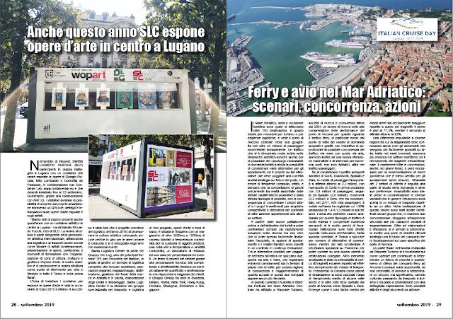 SETTEMBRE 2019 PAG. 28 - Anche questo anno SLC espone opere d'arte in centro a Lugano