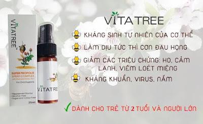 Keo ong xịt họng vitatree của úc