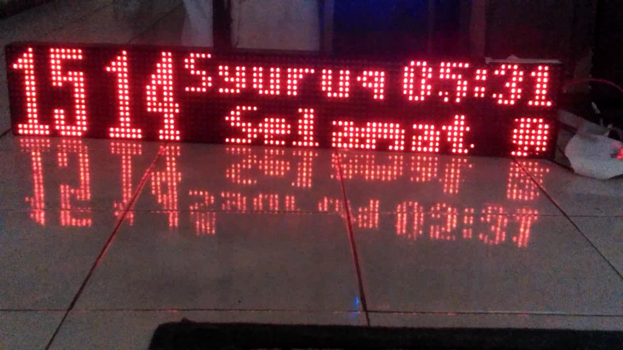 Jadwal Waktu Sholat Arduino P10