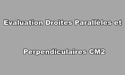 Evaluation Droites Parallèles et Perpendiculaires CM2