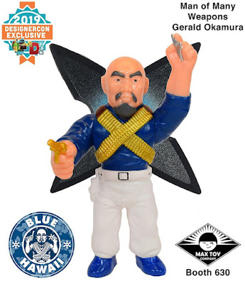 Designer Con 2019 Exclusive Master of Weapons Gerald Okamura Blue Hawaii Edition Vinyl Figure by Mark Nagata & Max Toy Company