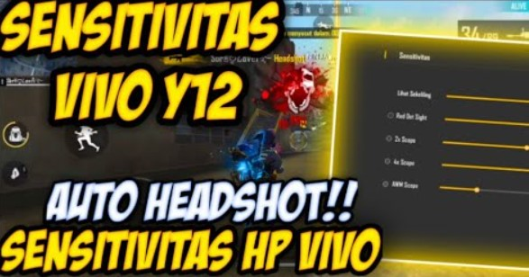 Sensitivitas FF Hp Vivo Y12 Auto Headshot