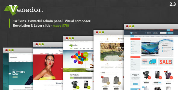 Free Download Venedor V2.3.9 WordPress + WooCommerce Theme